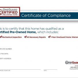 Las Vegas Certificate of Compliance
